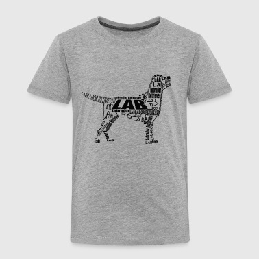 Labrador Retriever Body With Text Design - Toddler Premium T-Shirt