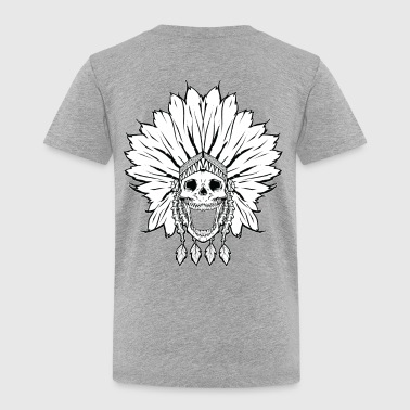Shaman skull black & white - Toddler Premium T-Shirt