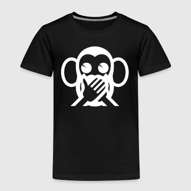 3 Wise Monkeys Iwazaru 言わざる Speak NO Evil Emoji - Toddler Premium T-Shirt