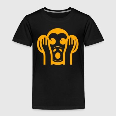3 Wise Monkeys Kikazaru 聞かざる Hear NO Evil Emoji - Toddler Premium T-Shirt