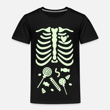 Gladditudes Ribcage with Candy Belly - Toddler Premium T-Shirt