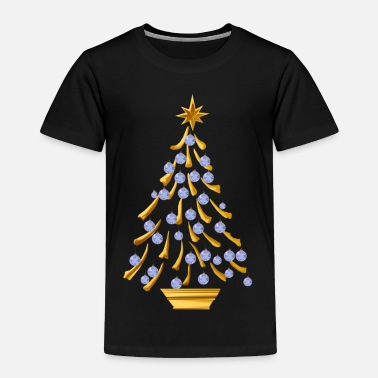 Gold Christmas Tree Decorated Gold Christmas Tree - Toddler Premium T-Shirt