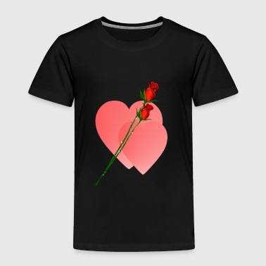 Two Two Roses  Two Hearts - Toddler Premium T-Shirt