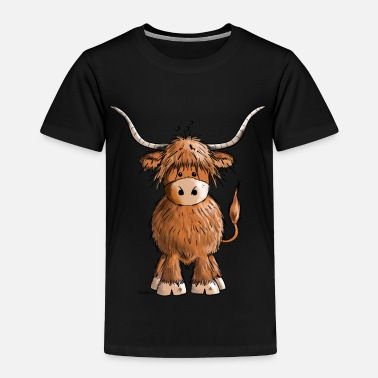 Cattle Cute Highland cattle - Cow - Cartoon - Gift - Toddler Premium T-Shirt