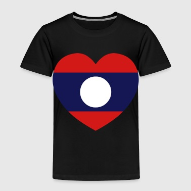 Lao / Laos Heart Flag Silhouette - Toddler Premium T-Shirt