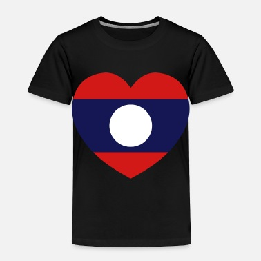 Lao Pdr Lao / Laos Heart Flag Silhouette - Toddler Premium T-Shirt