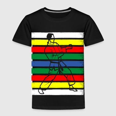 colorful martial arts defense gift idea - Toddler Premium T-Shirt