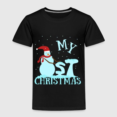 Baby kid first christmas gift snowman new born - Toddler Premium T-Shirt