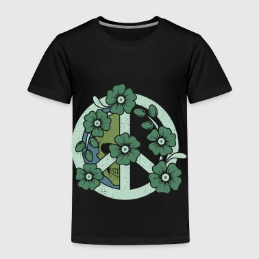 Peace Flowers love gift beautiful art present - Toddler Premium T-Shirt