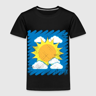 Drawn Sky Kids Drawing Sun Clouds summer - Toddler Premium T-Shirt