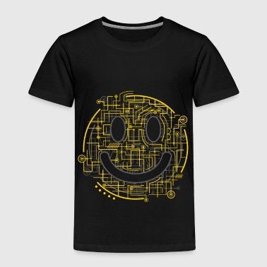 Positively Electric Smiley Face - Toddler Premium T-Shirt