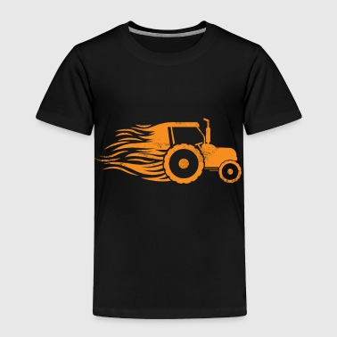Tractor Fire Long Hair kids christmas gift farmer - Toddler Premium T-Shirt