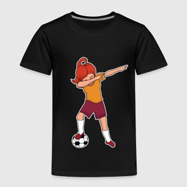 Soccer Football Soccer Dab Girl Dabbing - Toddler Premium T-Shirt