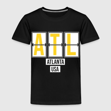 Code ATL - Atlanta USA Airport Code Souvenir or Gift Shirt Apparel - Toddler Premium T-Shirt
