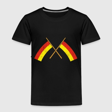 Berlin Two crossed German Flags Gift Christmas - Toddler Premium T-Shirt