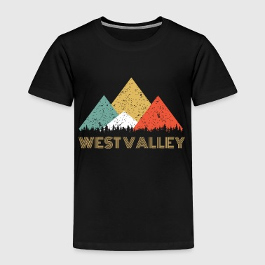 Mountains Retro City of West Valley Mountain Shirt - Toddler Premium T-Shirt