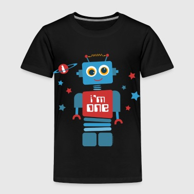 Robot 1st Birthday - Toddler Premium T-Shirt
