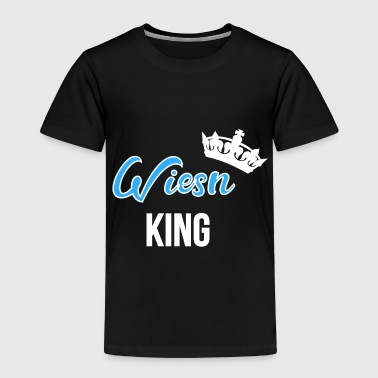Wiesn King with crown diagonally white - Toddler Premium T-Shirt