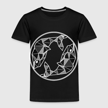 Pisces zodiac sign geometric gift hipster birth - Toddler Premium T-Shirt