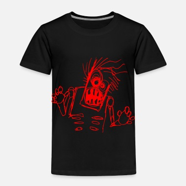 Self Portrait Kids zombie doodle - Toddler Premium T-Shirt