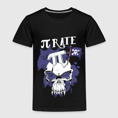 Pi Day TShirt Skull Treasure Pirate Shirt - Toddler Premium T-Shirt