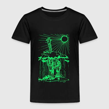 Sun shine giraffe green - Toddler Premium T-Shirt