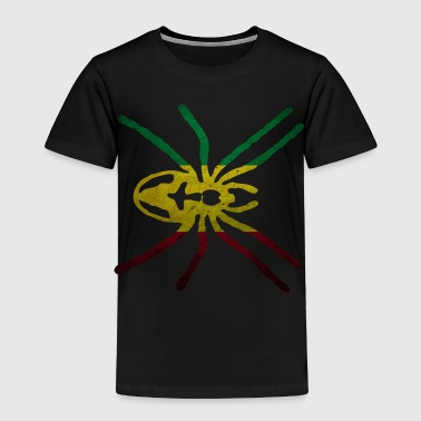 RASTA SPIDER FLAG - Toddler Premium T-Shirt