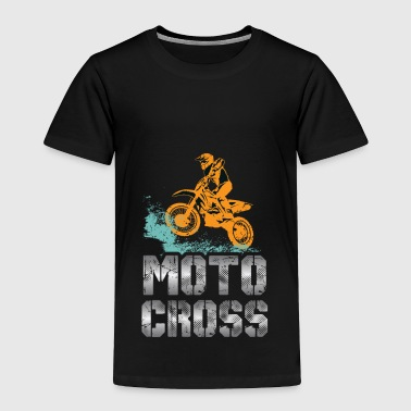 Motocross Dog Motocross MX Dirt Bike Vintage - Toddler Premium T-Shirt