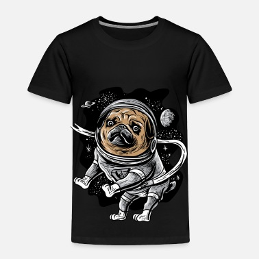 Giggle Astronaut Pug Astropug Pet for Space Pug Lover - Toddler Premium T-Shirt
