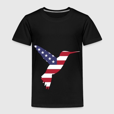 Hum American Flag Humming Bird Happy 4th of July - Toddler Premium T-Shirt
