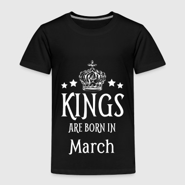 1971 Kings Are Born In March White Text - Toddler Premium T-Shirt
