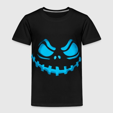 Scary Evil Pumpkin Face Halloween Jack-O-Lantern - Toddler Premium T-Shirt