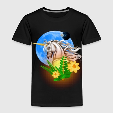 White Unicorn, Alien World - Toddler Premium T-Shirt
