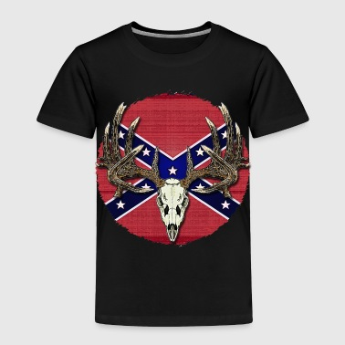 Confederate Skull Rebel Buck - Toddler Premium T-Shirt