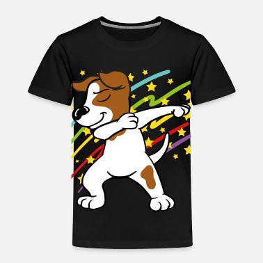 Jack Disco Party Music Dabbing Dab Jack Russell Terrier - Toddler Premium T-Shirt
