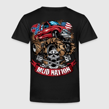 Mud Truck Cartoon Nation - Toddler Premium T-Shirt