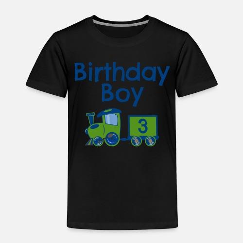 Toddler Premium T ShirtBirthday Boy Train 3