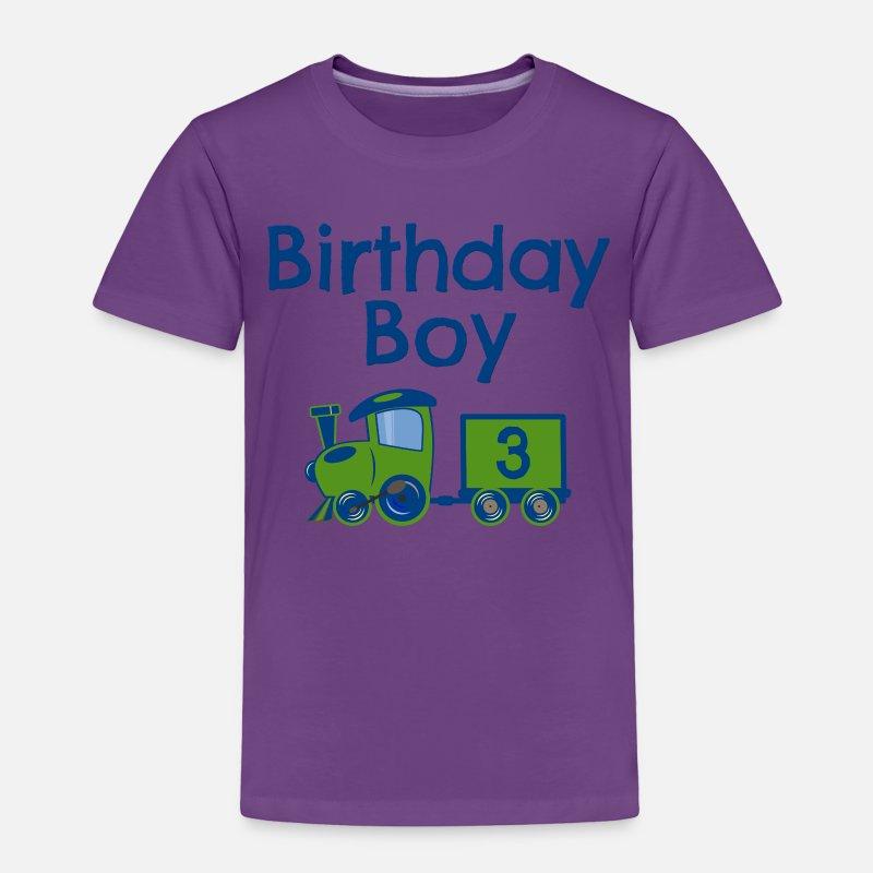Birthday Boy Train 3 Toddler Premium T Shirt
