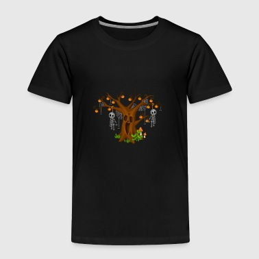 Halloween tree pixel art - Toddler Premium T-Shirt