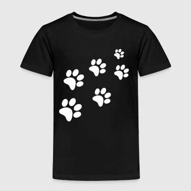 Catwalk cat dog paws traces trail - Toddler Premium T-Shirt