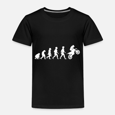 Motocross Evolution Motocross Motorcycles Motorcyclist - Toddler Premium T-Shirt