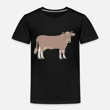 Cattle Calf brown cattle - Toddler Premium T-Shirt