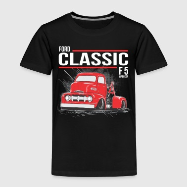 tow truck3 RED BUBBLE - Toddler Premium T-Shirt