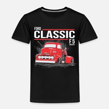 Classic Car tow truck3 RED BUBBLE - Toddler Premium T-Shirt