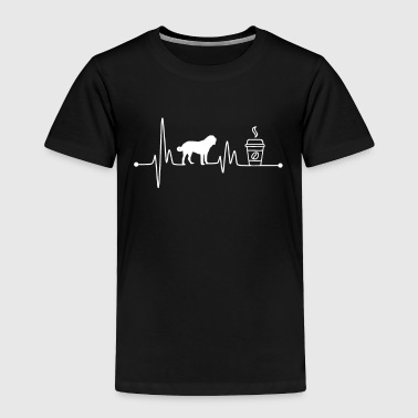 Caffeine Heartbeat EKG Pulse St. Bernard Coffee Lover - Toddler Premium T-Shirt