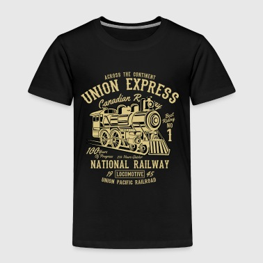 Across The Continent Union Express - Railway Train - Toddler Premium T-Shirt