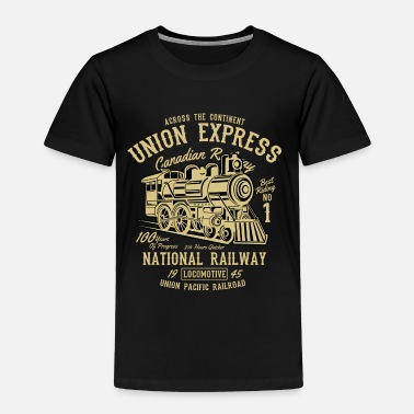 Vintage Across The Continent Union Express - Railway Train - Toddler Premium T-Shirt