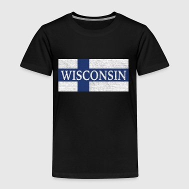 Wisconsin Finland Finnish Flag - Toddler Premium T-Shirt