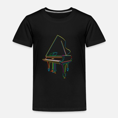 Piano Colorful Piano - Toddler Premium T-Shirt