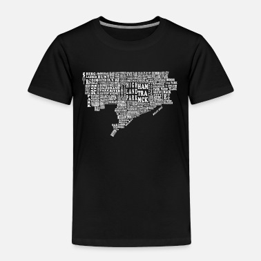Neighborhood Detroit City Neighborhood Map - Toddler Premium T-Shirt
